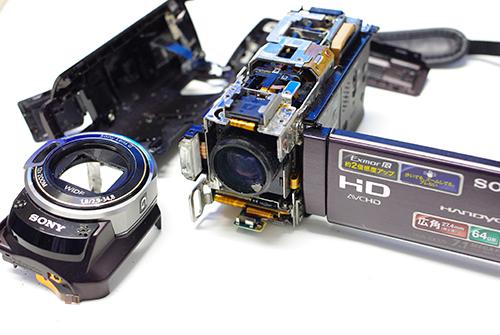 SONY Handycam HDR-CX370V 海に落下 海水で濡れた 水没